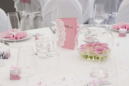 Hochzeitsdeko verträumt rosé